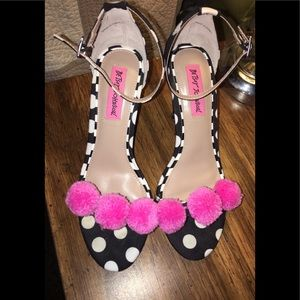 Cute  polka dot  Betsey Johnson heels. Size 6.5.